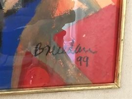Signature, Mexican Painter, Breceda