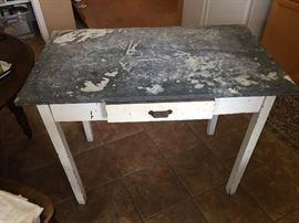 Zinc Top Table