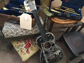 The Plainsman Guitar and Vintage Trumpets