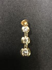 14 K  1ct TW 3 Genuine Diamond Pendent