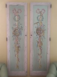 Ah, but wait, there's more! There are for of these doors joined together as a room screen + two extra hand-painted doors for your hanging pleasure. These are actually kinda sweet and would look great in your little princess' room.                                                                                These were NOT taken from  a French bordello, so pay no attention to the vile rumors you may hear swirling around Buckhead...Those biatches are just jealous!