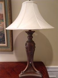 "There's a pair of these Grecian Formula urn-like lamps, measuring 33"" T."
