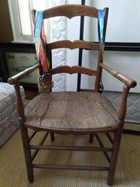 This is the chair that goes with the 1890 English pine desk - climb that corporate ladder!