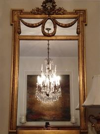 "Love, love, love this mirror - it has all the right things, Of course the crystal chandelier in the reflection doesn't hurt; it measures 26"" W x 44"" T."