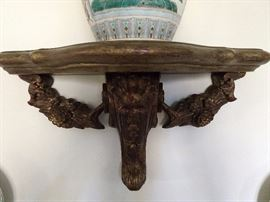 Yummy! A vintage wooden wall sconce.                                What's better, an English scone or a wall sconce?