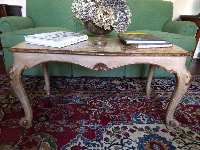 Quite nice find, a vintage Italian florentine coffee table.