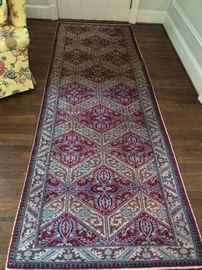"Vintage, Persian runner, also from Moattar. Yes, those two small children grew up and are now running their father's rug empire, at ADAC. Who knew?            Measures 3' 9"" x 10' 1""."