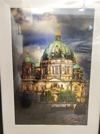 Nicely framed/matted photograph of the Berliner Dom, signed by noted Chattanooga, TN photographer, Lawson Whitaker.