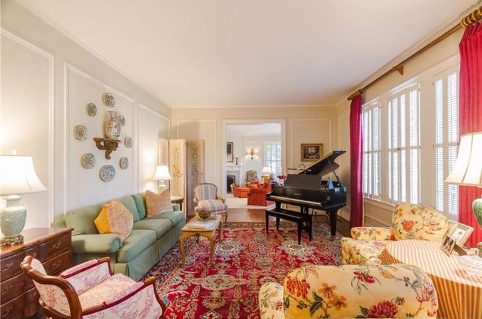 This is the living room/music room. Pretend the baby grand isn't there, as the family is keeping that jewel.  BUT, everything else in the room is available.                           More descriptions in the next pic...