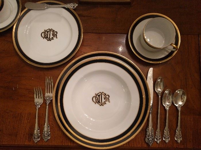 "Here's a pic of the Christian Dior ""Monogram Black"" place setting,"