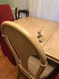 massive dinning table & chairs