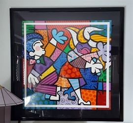 Romero Britto signed and framed Artist Proof