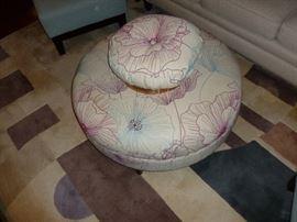 Neat Ottoman & pillows