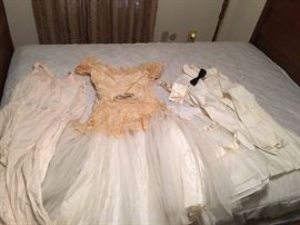 Found in an old container -- appears to be a wedding outfit and honeymoon nightie -- will be sold as set