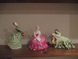 A Few of the Many Royal Doulton Figurines