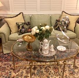 The most gorgeous coffee table ever...in fact, I am renaming it a champagne table.  Drink your coffee in the kitchen, this table is just too fabulous!