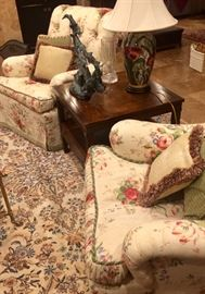 Amazing rugs and gorgeous floral club chairs, even Jay and Sean didn't mind the florals after they sat in them...for a little too long I might add!