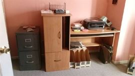 Office furniture and office supplies, label makers, filing cabinet, photo scanner, printer, and more