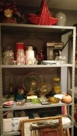 Coffee makers, fans, kitchen items, baskets