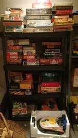 Lots of games and puzzles and vintage toys