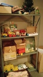 Fisher Price toys, cabbage patch doll,