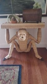 Artist Mario Torres Console Table w/ Stone Nails.