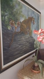A Streak of Tigers in Waiting Giclee.