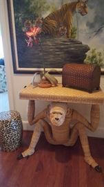 Leopard Print Garden Stool, Torres Console Table, Tiger Giclee.