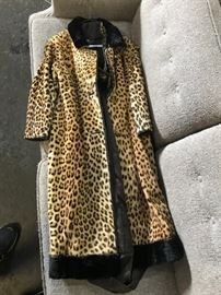 Real Leopard Fur Coat