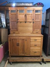 Huge Hoosier Cabinet