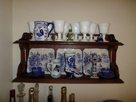 This house is FULL of a huge collection of blue & white china!