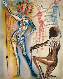 The Fashion Designer Original Limited Edition by Salvador Dali wcert by Dali Gallery  $25,000 Retail