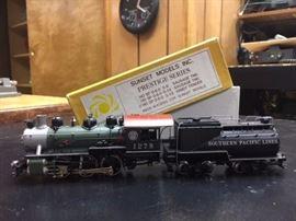 Sunset Model Prestige Series HO steam locomotive train