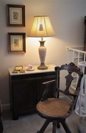 Marble Top Chest & Arts & Crafts Chair