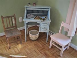 Vintage Child's Chest & Chairs