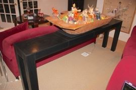 Console Table and Decorative Items