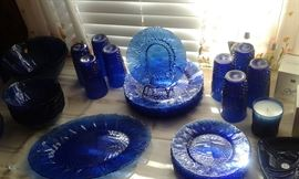 Avon Royal Sapphire  dishes and candles