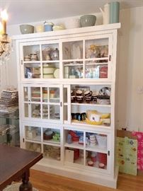 White cupboard/bookcase/cabinet from Crate & Barrel