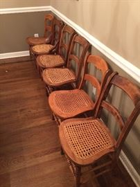 A sample of the assortment of chairs.