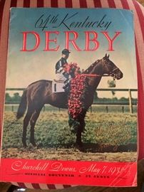 1938 Kentucky Derby Program!