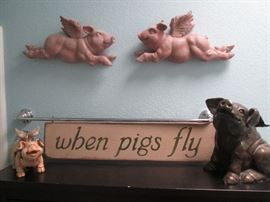 """For """"Pig Lovers"""" everywhere, we have quite the collection of many different items throughout the house!"""