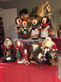 Christmas Caroler are classics along with Santa Claus collection.