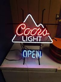 Coors Light Open Neon Sign