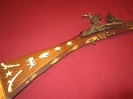 UNUSUAL INLAID RIFLE
