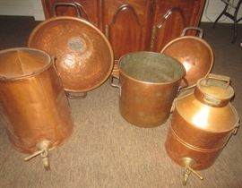 LOTS OF GREAT ANTIQUE COPPER - MUCH MORE NOT SHOWN