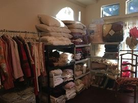 yes we have linens and clothing  -just a  bit