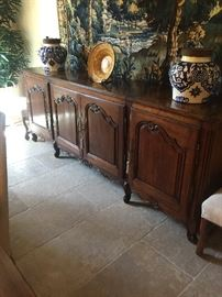 "Stunning antique French side board 105"" x 22"" wide excellent condition"