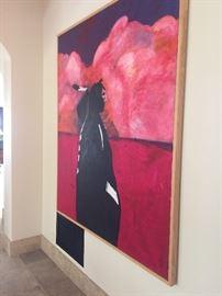 80 x 68 Fritz Scholder outstanding painting