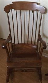 Nichols & Stone Design of Antique Gungstol Rocking Chair