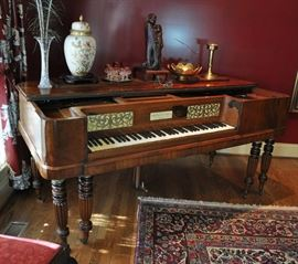 John Broadwood & Sons square grand piano circa 1844.  It is an English piano and much more delicate that American square grands.